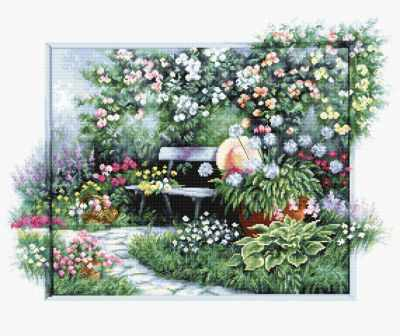 BU4012 Цветущий сад