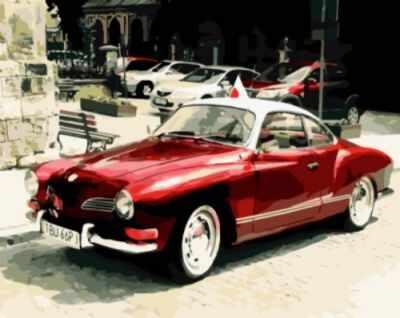 Набор для рисования по номерам Цветной gx8909 «Красный ретро-автомобиль» недорого