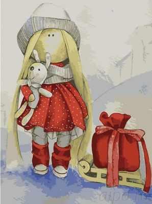 Набор для рисования по номерам Цветной me1103 «Кукла Даша»