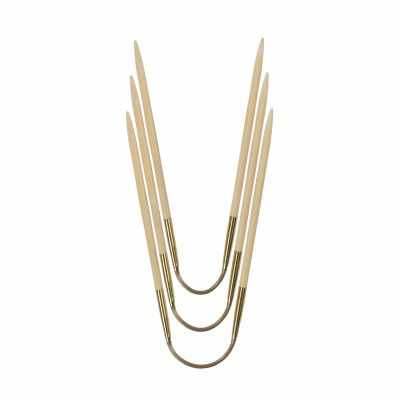 Инструмент для вязания ADDI 560-2/3-24 Спицы чулочные гибкие CraSyTrio Бамбук, №3, 24 см, 3 шт