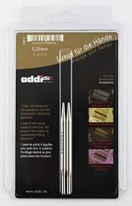 Инструмент для вязания ADDI 756-7/5-000 Дополнительные спицы с удлиненным кончиком к addiClick LACE SHORT, №5, латунь
