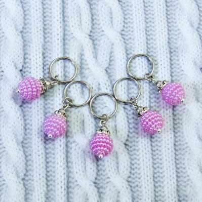 Аксессуар для вязания - Маркеры для вязания. Розовый