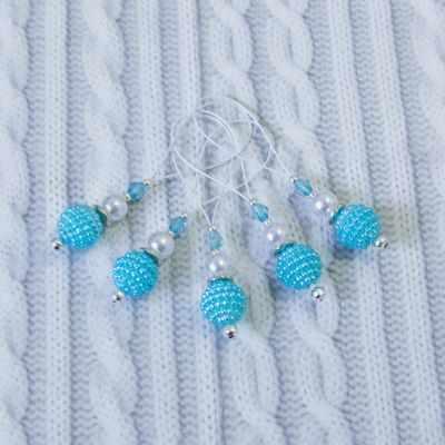 Аксессуар для вязания - Маркеры для вязания. Голубой