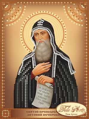 Основа для вышивания с нанесённым рисунком Tela Artis ТД-103 - Святой Преподобный Антоний Печерский схема (Tela Artis)