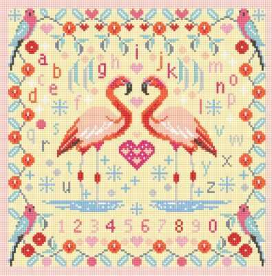 Набор для вышивания RIVERDRIFT House RR468 Flamingos