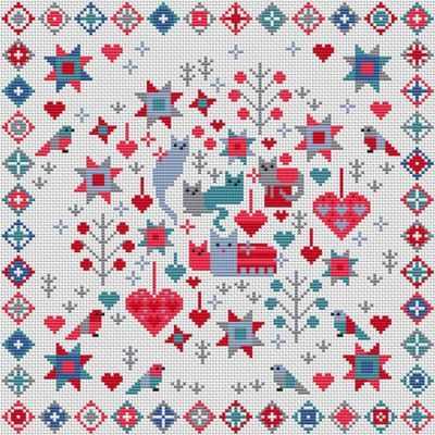 Набор для вышивания RIVERDRIFT House RR506 Cat and kittens