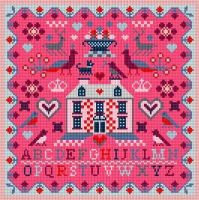 Набор для вышивания RIVERDRIFT House RR494 Pink house