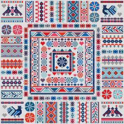 Набор для вышивания RIVERDRIFT House RR476 Hungarian ribbon square