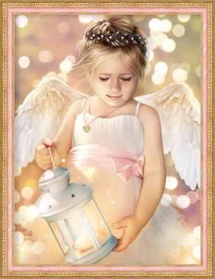 Фото - Алмазная мозаика Алмазная живопись Алмазная вышивка Ангел с фонариком (АЖ-1780) - картина стразами алмазная мозаика алмазная живопись алмазная вышивка львиный прайд аж 1399 картина стразами