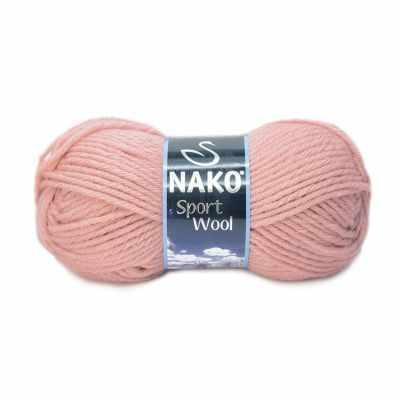 Пряжа Nako Пряжа Nako Sport Wool Цвет.2406 Персик