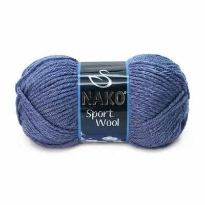 Пряжа Nako Пряжа Nako Sport Wool Цвет.23162 Джинсовый