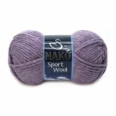 Пряжа Nako Пряжа Nako Sport Wool Цвет.23331 Т.Сирень