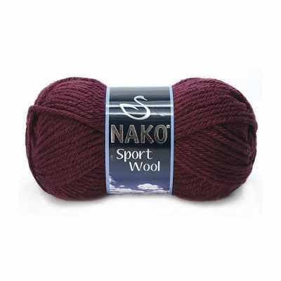Пряжа Nako Пряжа Nako Sport Wool Цвет.3718 Бордо