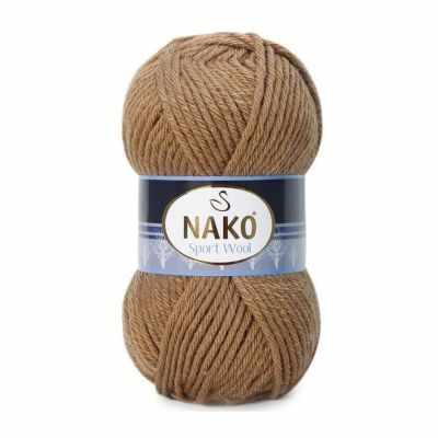 Пряжа Nako Пряжа Nako Sport Wool Цвет.10126 Верблюжий