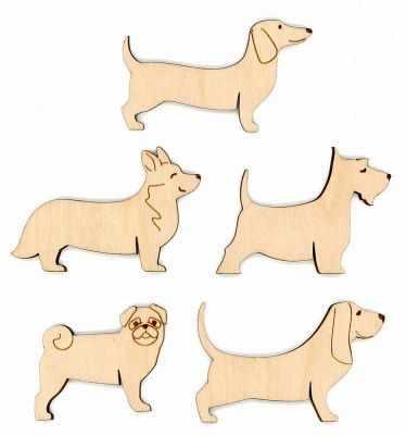 Заготовка для творчества МП Студия ОР-038 Бобины для ниток Собаки