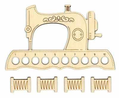 Заготовка для творчества МП Студия ОР-037 Органайзер для ниток Швейная машинка