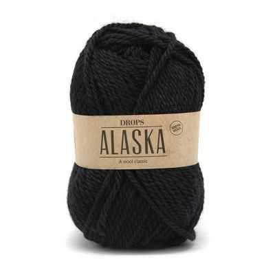 Пряжа DROPS Пряжа DROPS Alaska Цвет.06 Black/черный