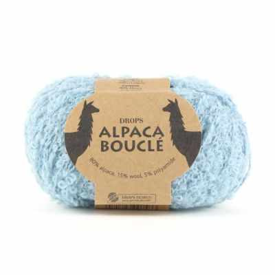 Пряжа DROPS Пряжа DROPS Alpaca Boucle Цвет.7402 Light ocean green/св.зеленый