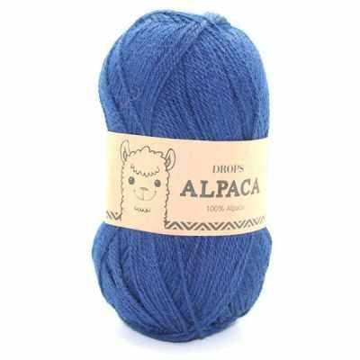 Пряжа DROPS Alpaca Цвет.5575 Navy blue/ синий