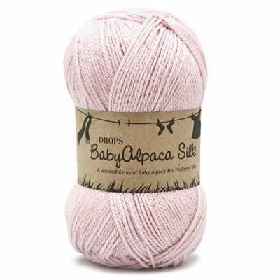 Пряжа DROPS Пряжа DROPS Baby Alpaca Silk Цвет.3125 Light pink/св.розовый