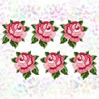 Флизелин с рисунком Confetti K336 Розы