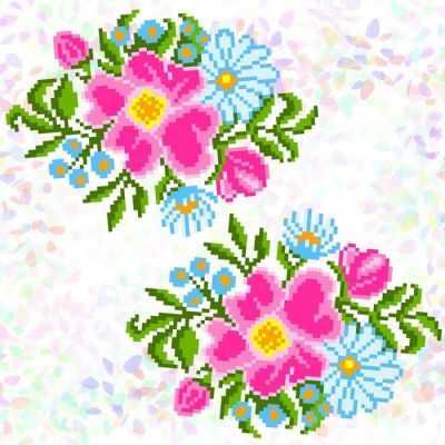 Флизелин с рисунком Confetti K343 Полевые цветы