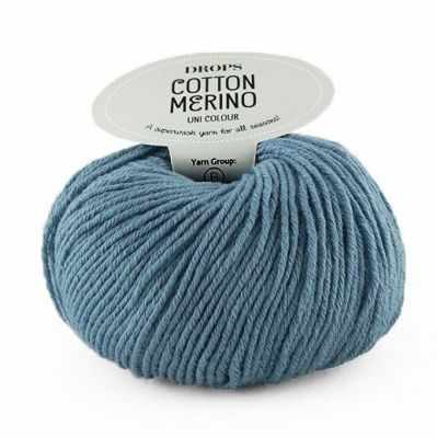 Пряжа DROPS Пряжа DROPS Cotton Merino Цвет.16 Jeans blue/джинсовый