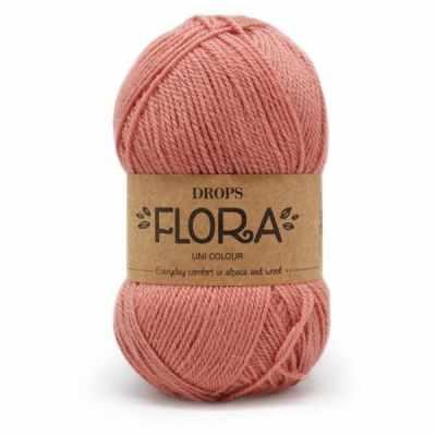 Пряжа DROPS Пряжа DROPS Flora Цвет.20 Peach pink/розовый персик