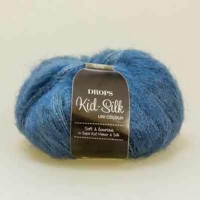 Пряжа DROPS Пряжа DROPS Kid-Silk Цвет.27 Jeans blue/джинс