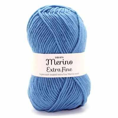 Пряжа DROPS Пряжа DROPS Merino Extra Fine Цвет.23 Grey blue/ сер.голубой