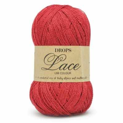 Пряжа DROPS Пряжа DROPS Lace Цвет.3620 Красный