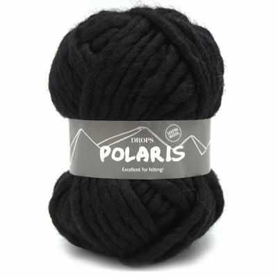 Пряжа DROPS Пряжа DROPS Polaris Цвет.02 Black/черный