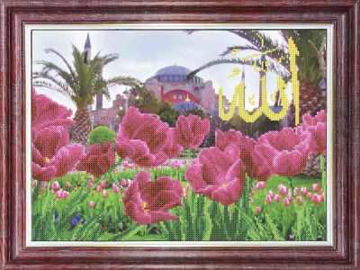 Основа для вышивания с нанесённым рисунком Каролинка КБП 3056 Мечеть Айя-Софии - схема (Каролинка)