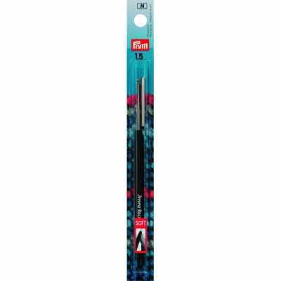 Инструмент для вязания Prym 175621 Крючок IMRA Record для тонкой пряжи (сталь), мягкая ручка, сталь 1,5 мм Prym