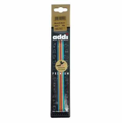 Инструмент для вязания ADDI 204-7/2.5-15 Спицы, чулочные, сверхлегкие №2,5, 15 см