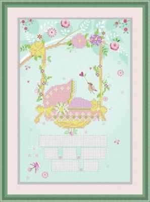 Основа для вышивания с нанесенным рисунком Матрёшкина КАЮ3080 Метрика для девочки 5