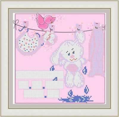 Основа для вышивания с нанесенным рисунком Матрёшкина КАЮ3078 Метрика для девочки 4