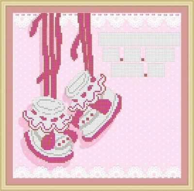 Основа для вышивания с нанесенным рисунком Матрёшкина КАЮ3076 Метрика для девочки 3
