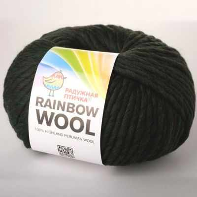 Пряжа RAINBOW BIRD WOOL Цвет.Deep Forest