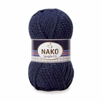 Пряжа Nako Пряжа Nako Spaghetti Цвет.3088 т.синий