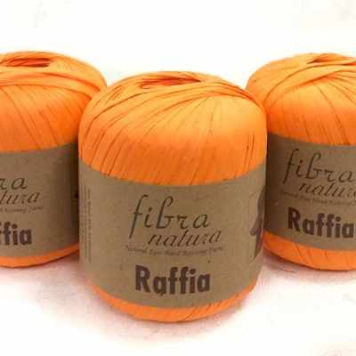 Пряжа Fibra Natura Пряжа Fibra Natura Raffia Цвет.116-19 оранж