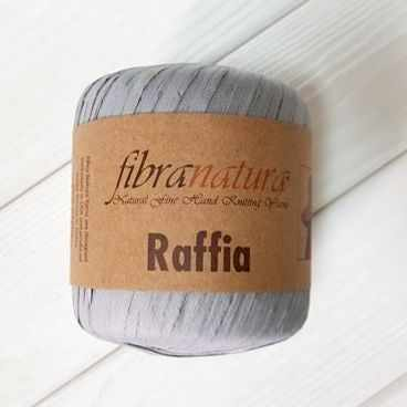 Пряжа Fibra Natura Пряжа Fibra Natura Raffia Цвет.116-11 серый