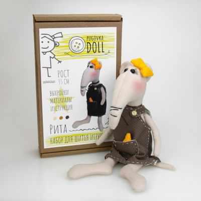 Набор для изготовления игрушки Pugovka Doll Крыса Рита