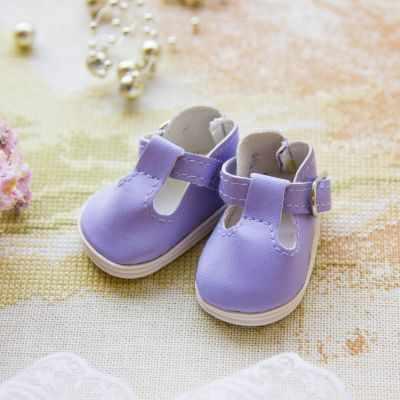 Заготовки и материалы для изготовления игрушки Pugovka Doll Туфли сиреневые, 5 см