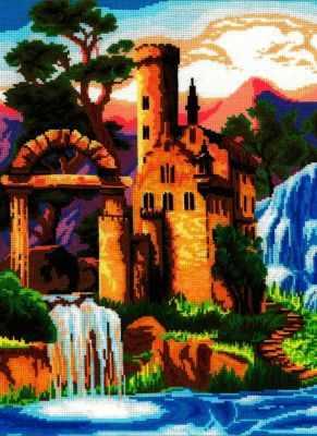 Набор для вышивания Nitex 0279 Замок у водопада булавки charmelle булавка pn 0279 pn 0279