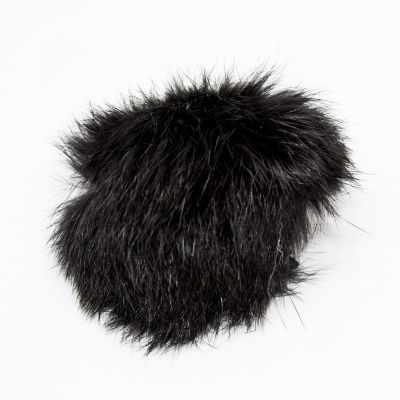 Помпон - D5 мех кролик Цвет.02 Черный