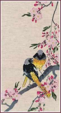 1238 Горихвостики на вишневой ветке