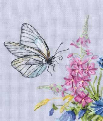 Набор для вышивания РТО M759 Бабочка капустница