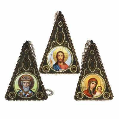Набор для вышивания иконы Вышиваем бисером L-153 Пирамида Триптих
