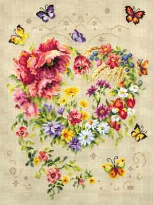 Набор для вышивания Чудесная игла 100-144 Сияние сердца 1872 романтик чудесная игла чудесная игла